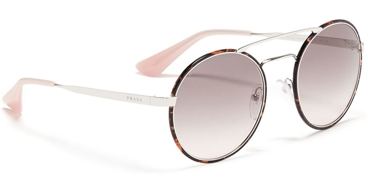 123fded8ab Prada Round-frame Tortoiseshell Acetate Sunglasses - Bitterroot ...