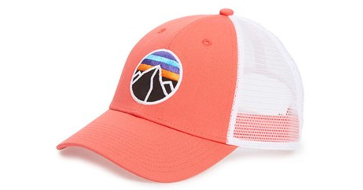 9ec4edb604a Lyst - Patagonia  fitz Roy Emblem  Trucker Hat in Pink for Men