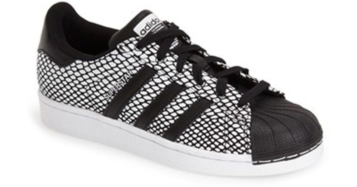 b89e1c3f99b98 ... get lyst adidas superstar snake embossed sneaker in black 639d7 f06ca