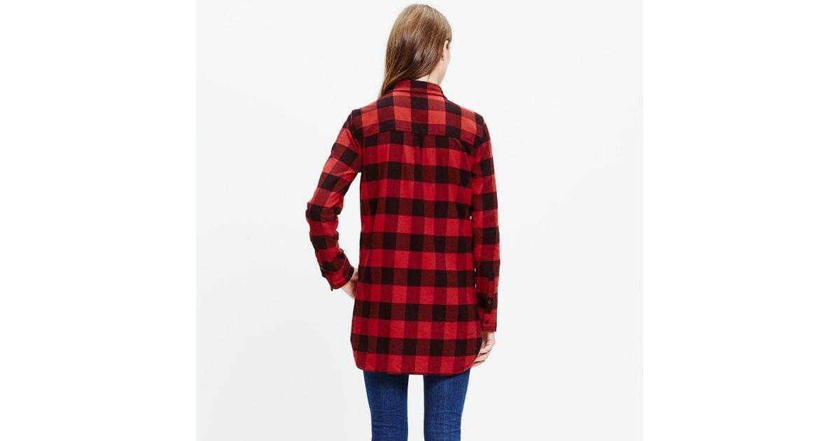Madewell flannel ex boyfriend shirt in buffalo check in for Buffalo check flannel shirt jacket