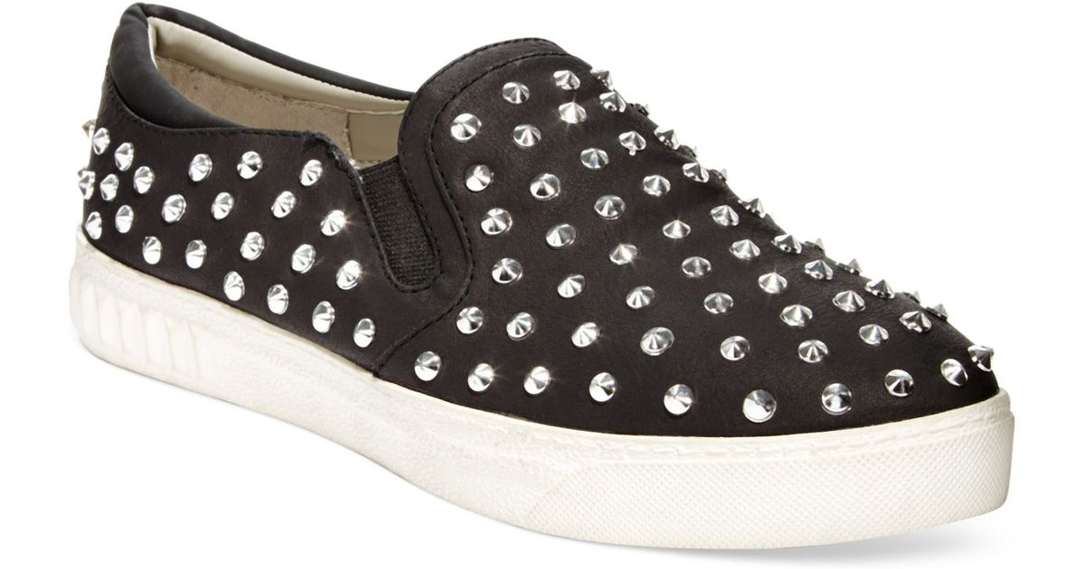 d8755c713 Lyst - Circus by Sam Edelman Carlson Studded Slip On Sneakers in Black