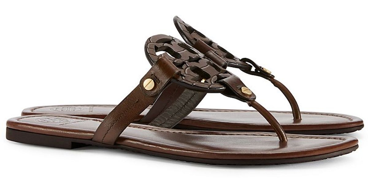 a75a5ac96 Lyst - Tory Burch Miller Sandal in Brown