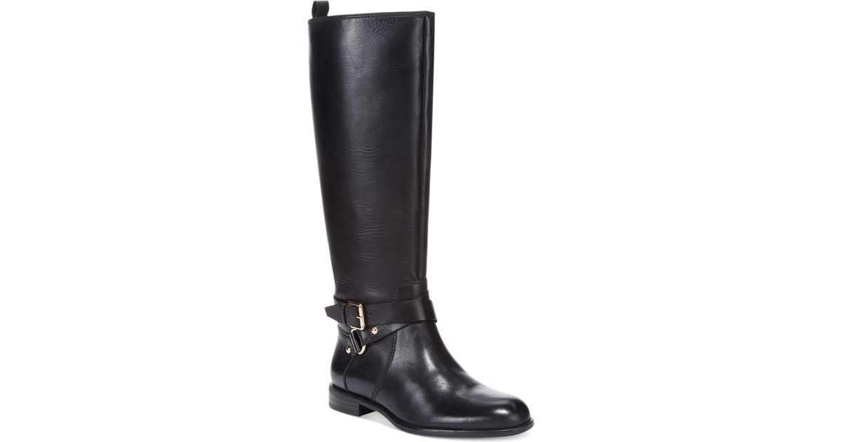 abf3dacb2ce5 Lyst - Enzo Angiolini Daniana Wide Calf Riding Boots in Black