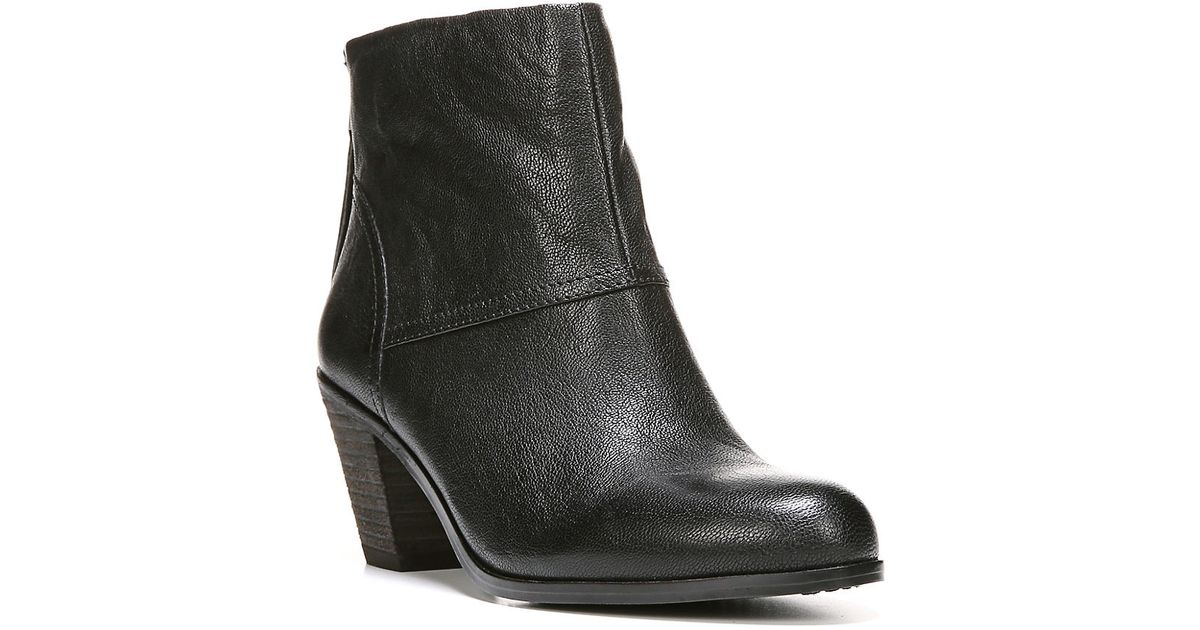 2e6e262810eff Lyst - Sam Edelman Larkin Leather Booties in Black