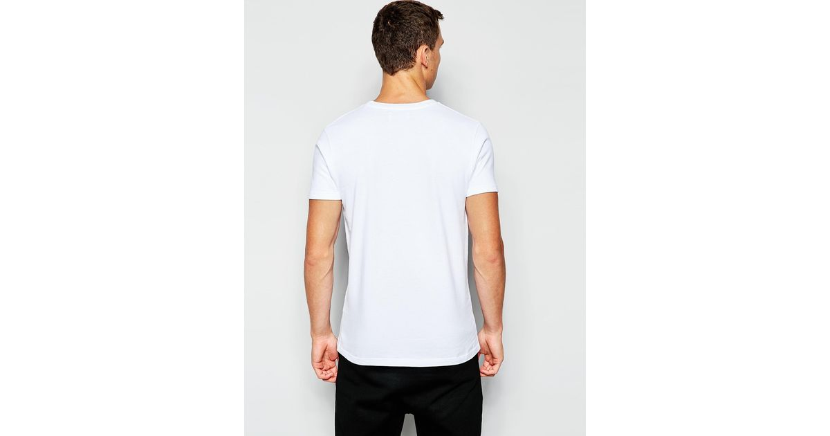 Han Kjobenhavn Han T Shirt With Circle Print In White For