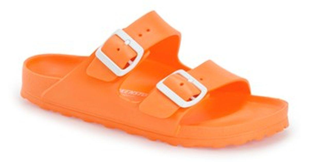 748c8ca85dbdc5 Lyst - Birkenstock  essentials - Arizona  Slide Sandal in Orange