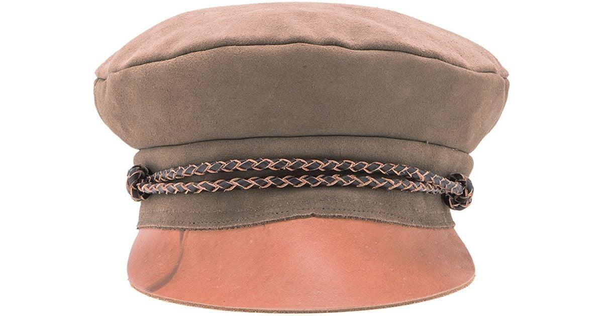 8feebaccc89be Brixton Kayla Cap in Brown - Lyst