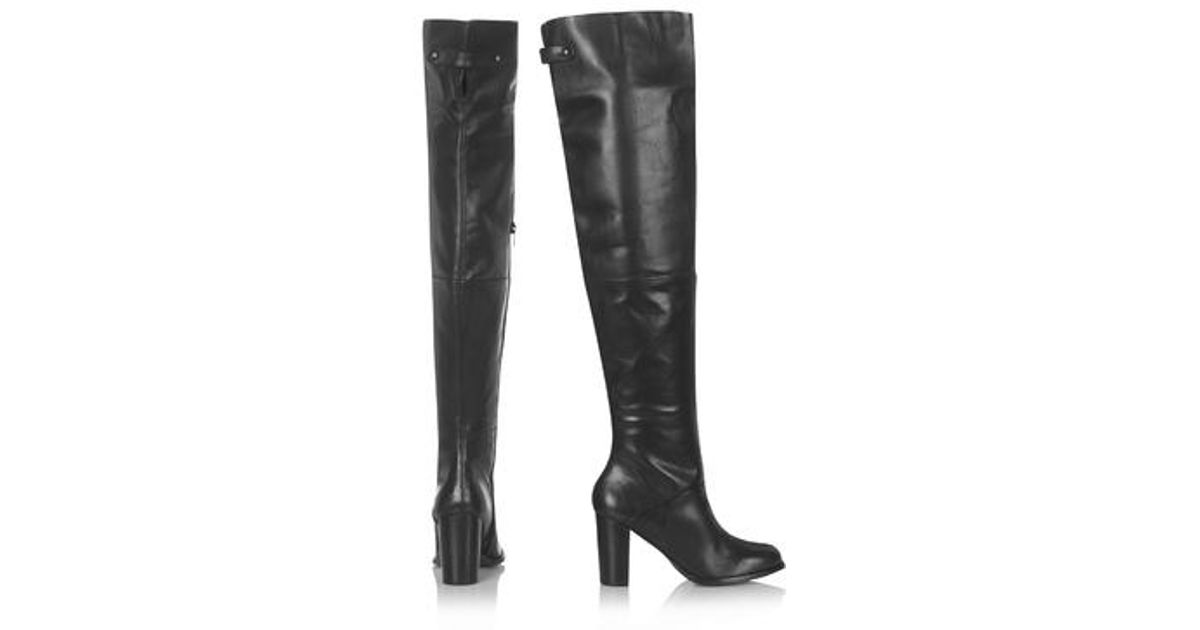 topshop bell thigh high boots in black lyst