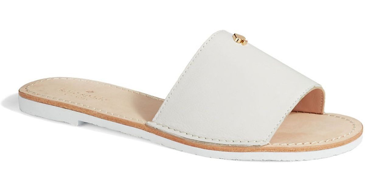 fb78eacb0583 Kate Spade New York Imperiale Leather Sandals in White - Lyst
