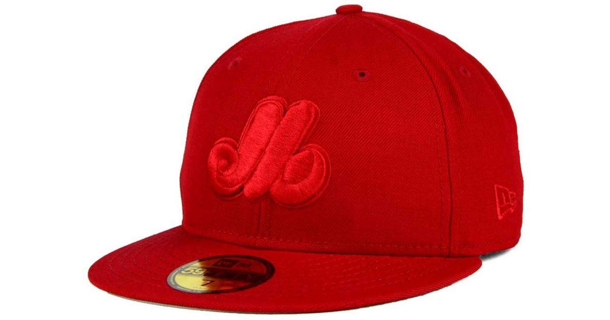 buy popular 588d2 31166 Lyst - KTZ Montreal Expos Ton-wool 59fifty Cap in Red for Men