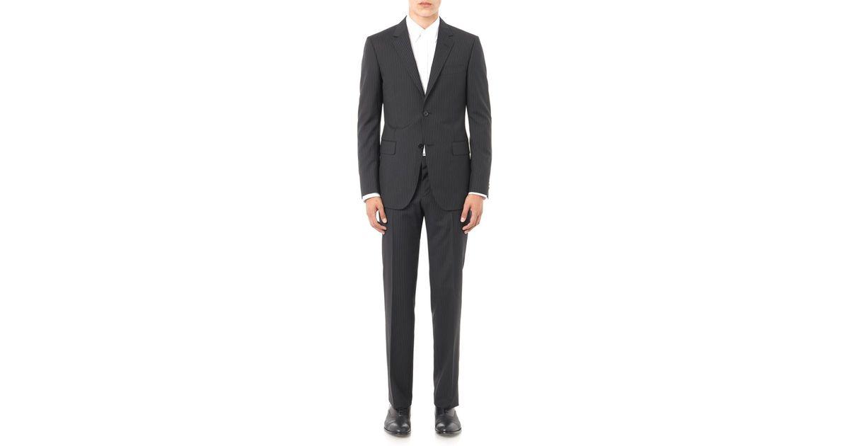 0b486ae30 Gucci Brera Pinstripe Wool-blend Suit in Black for Men - Lyst