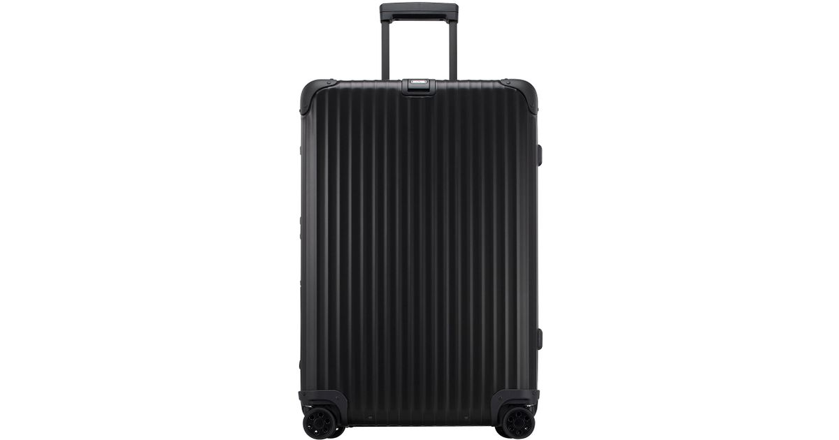 rimowa topas stealth 29 multiwheel in black for men lyst. Black Bedroom Furniture Sets. Home Design Ideas