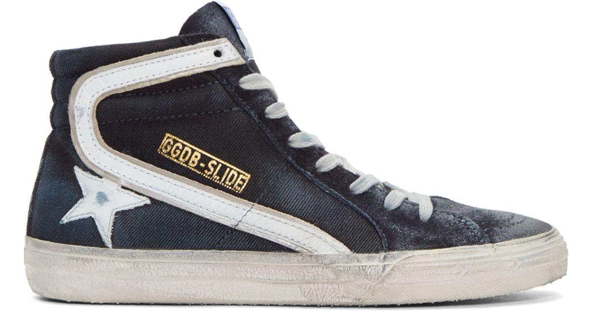 Golden Goose Slide High-Top Sneakers BvyAWZWB