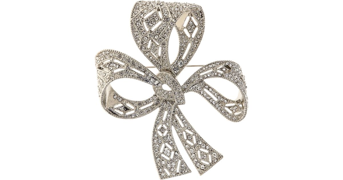 Lyst Brooks Brothers Bow Brooch In Metallic