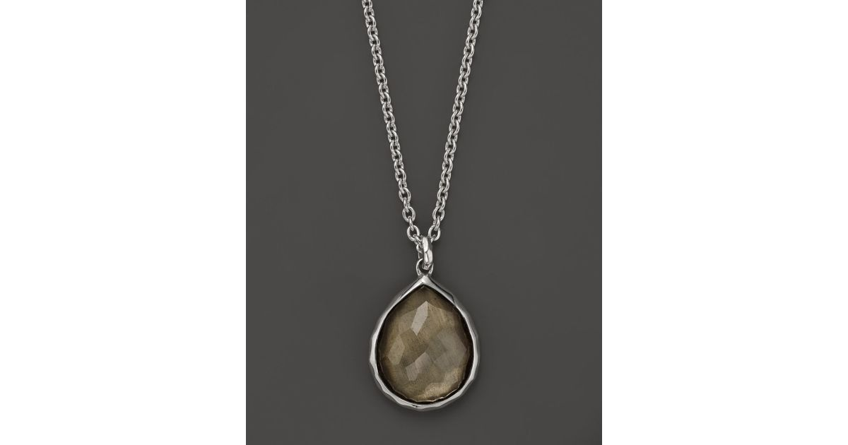 953e798767c33d Ippolita Sterling Silver Wonderland Mini Teardrop Pendant Necklace In  Pyrite, 16