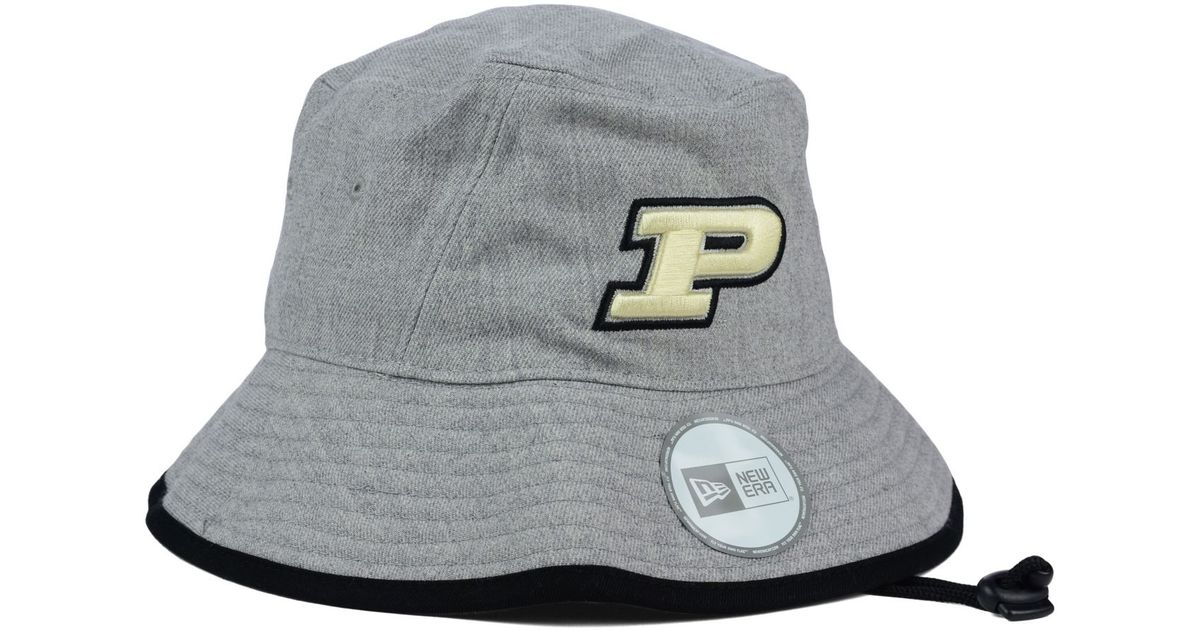 hot sales 562fa 6e3c5 ... clearance lyst ktz purdue boilermakers tip bucket hat in gray 31630  80992