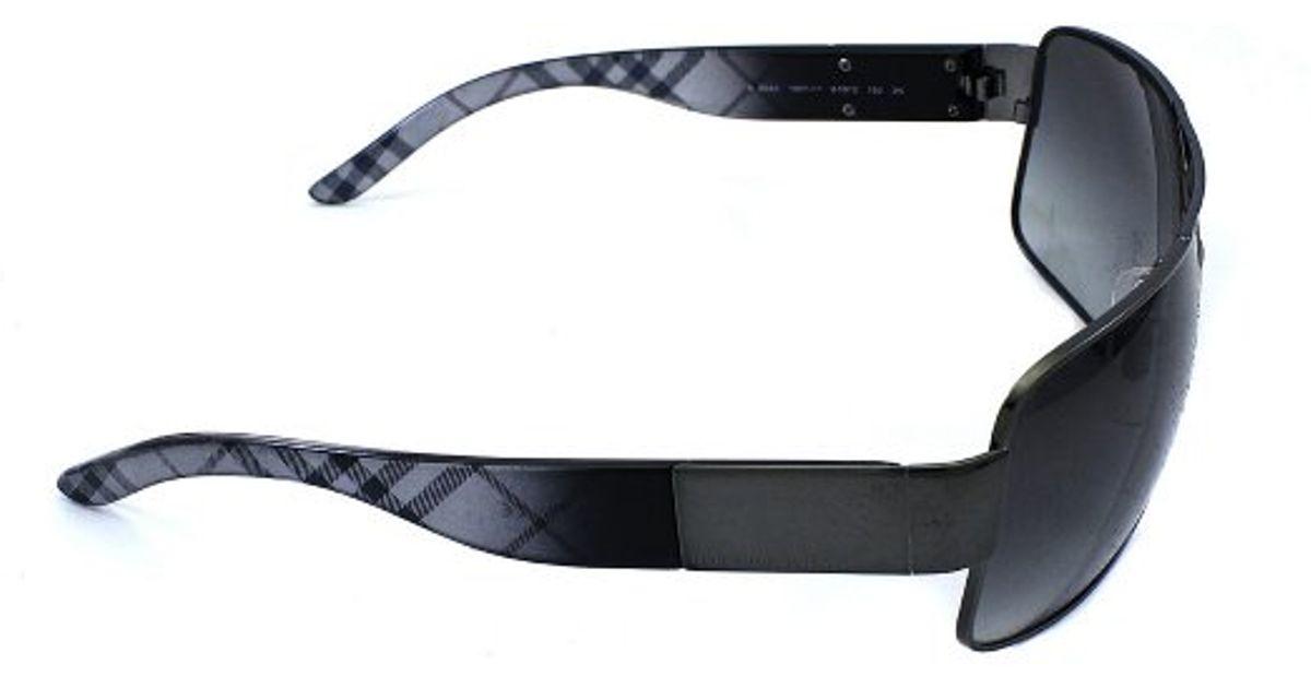 burberry aviators b7kn  Burberry Be 3040 105711 Gunmetal Aviator Metal Sunglasses in Metallic for  Men  Lyst