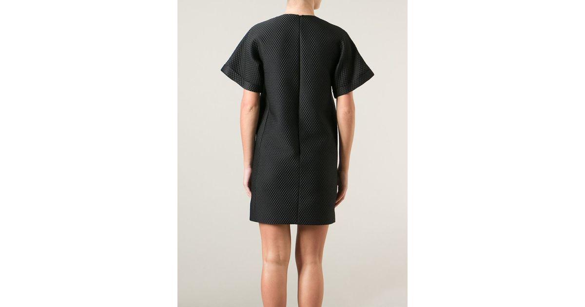 Lyst Victoria Victoria Beckham Corsage Shift Dress In Black