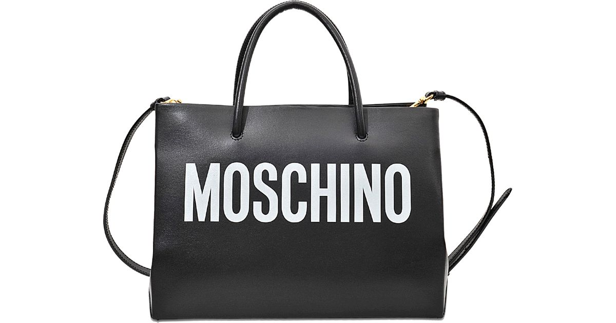 2a245870f2c Moschino Small Shopping Bag in Black - Lyst