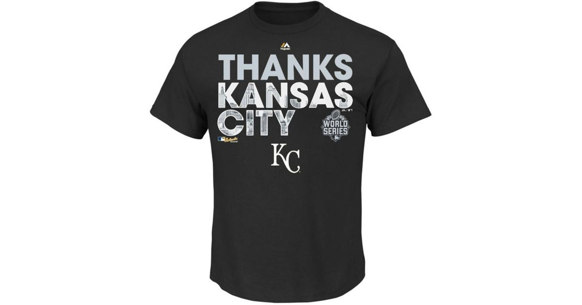 official photos 1a381 3613e Majestic - Black Men's Kansas City Royals World Series Champ Parade T-shirt  for Men - Lyst