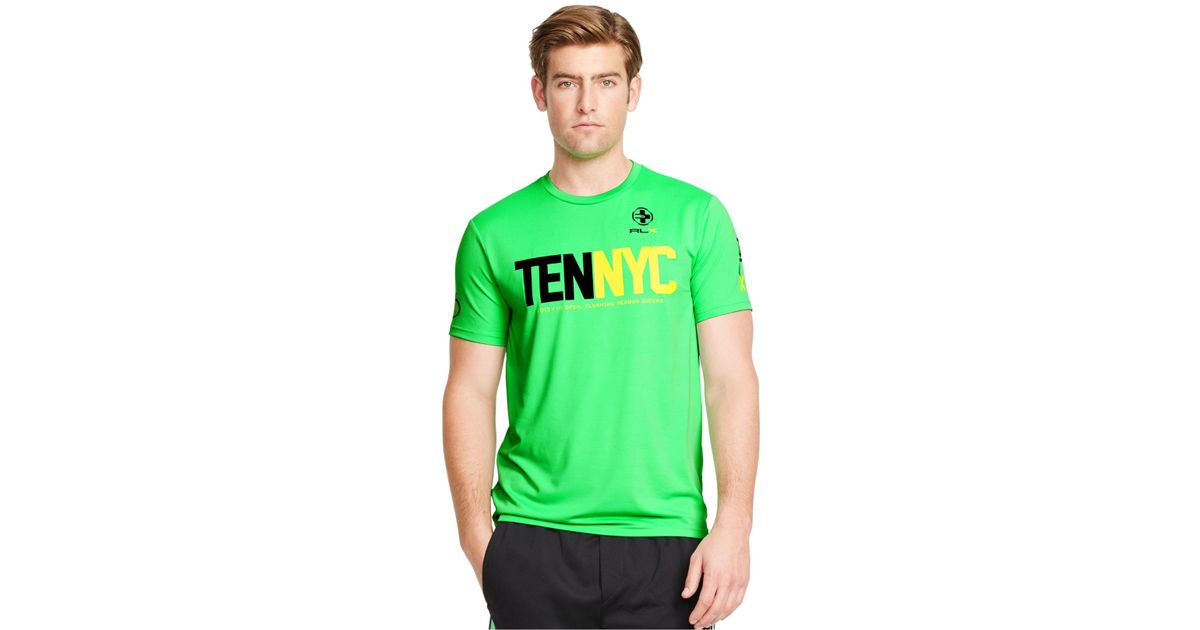 Polo ralph lauren Us Open Rlx Performance Jersey T-shirt in Green for Men | Lyst