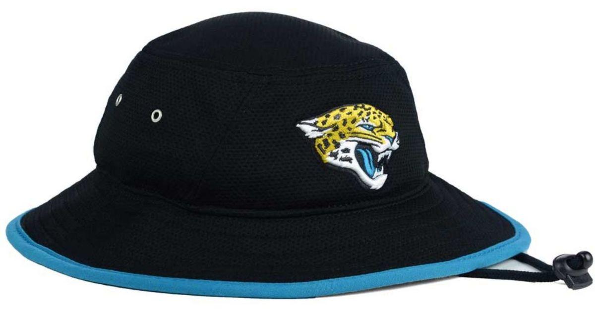 pretty nice 5614d f9f0c KTZ Jacksonville Jaguars Tc Training Bucket Hat in Black for Men - Lyst