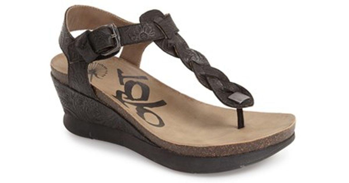 Otbt Graceville Braided Wedge Sandals In Black Lyst