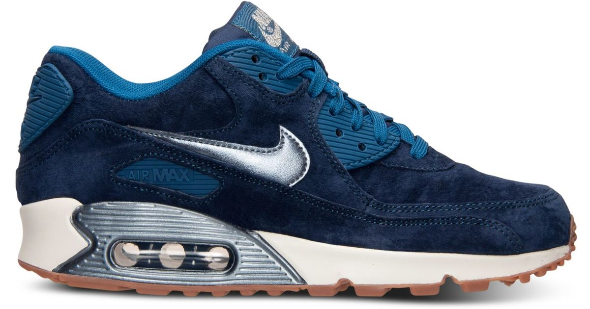 b5769b021255 ... Lyst - Nike Women s Air Max 90 Premium Suede Running Sneakers From  Finish Line in ...