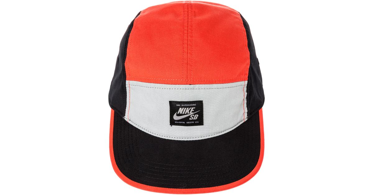 Lyst - Nike The Blocked 5 Panel Hat in Red for Men 4824062fd66