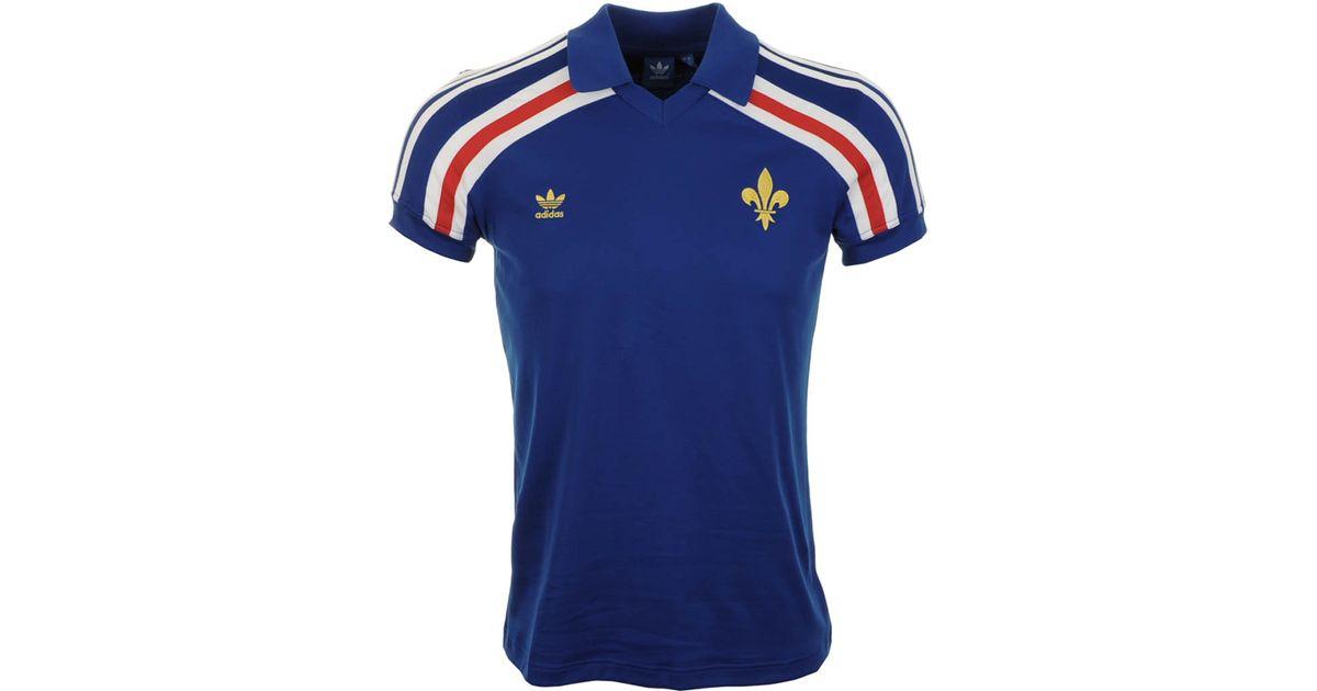 c36a57ec3 adidas Originals France Retro Football Jersey in Blue for Men - Lyst