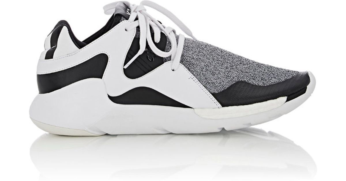1c21713a01ed46 Lyst - Y-3 Men s Boost Qr Knit Sneakers in Gray for Men