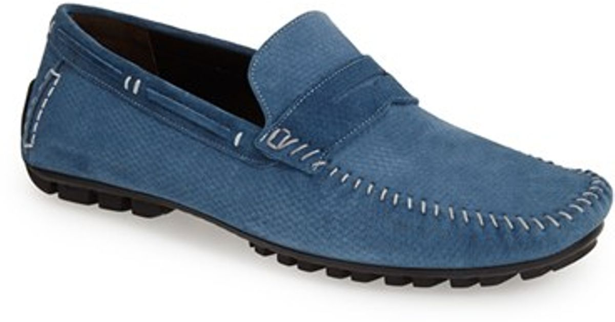 0c9a19a82f7 Lyst - Bacco Bucci  mirna  Penny Loafer in Blue for Men