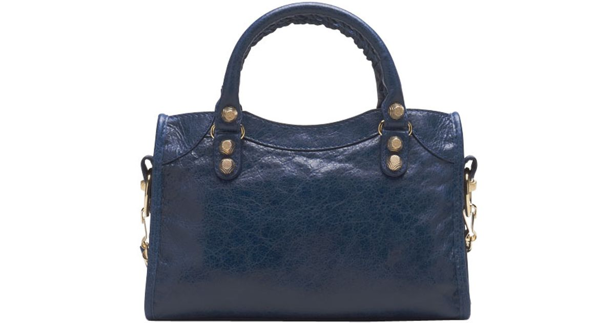 2d44eb14867d Lyst - Balenciaga Giant 12 Golden Mini City Bag in Blue