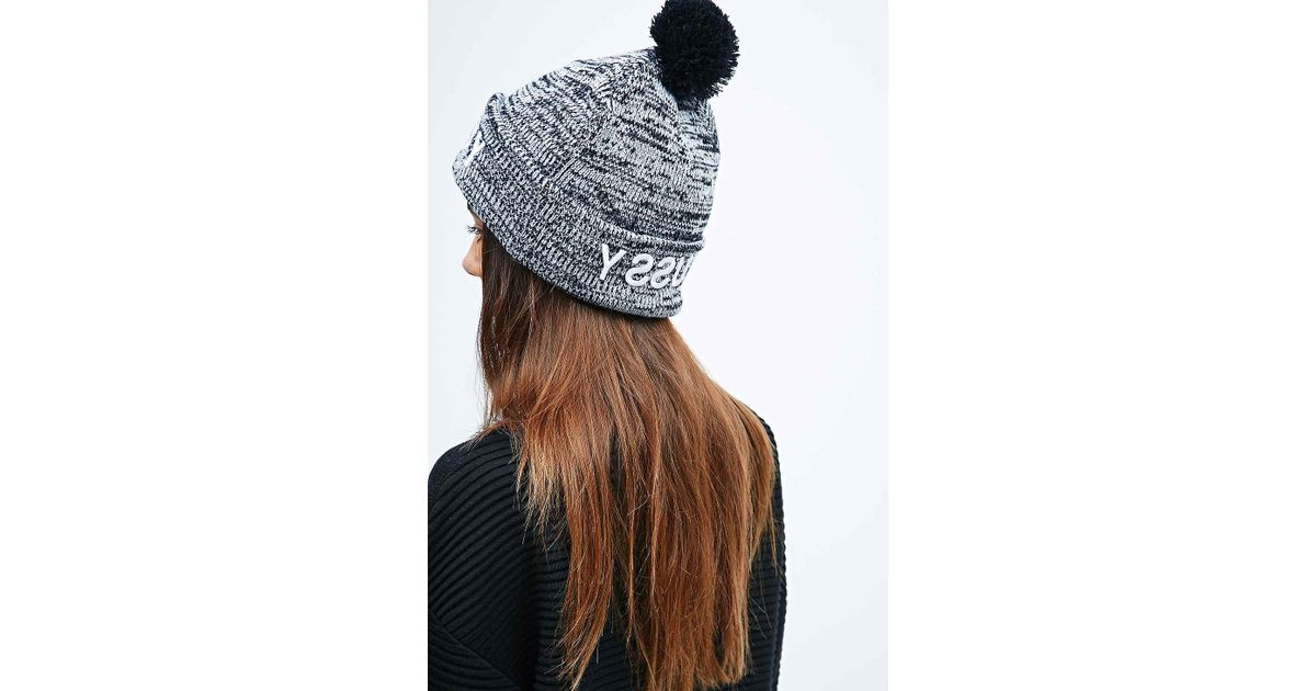 7c0846c0d9f Stussy Marble Pom Pom Beanie in Grey and Black in Gray - Lyst