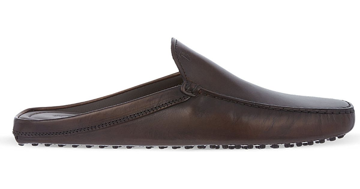 655f4bf89 Tod's Backless Gommino Driving Shoes In Leather in Black for Men - Lyst
