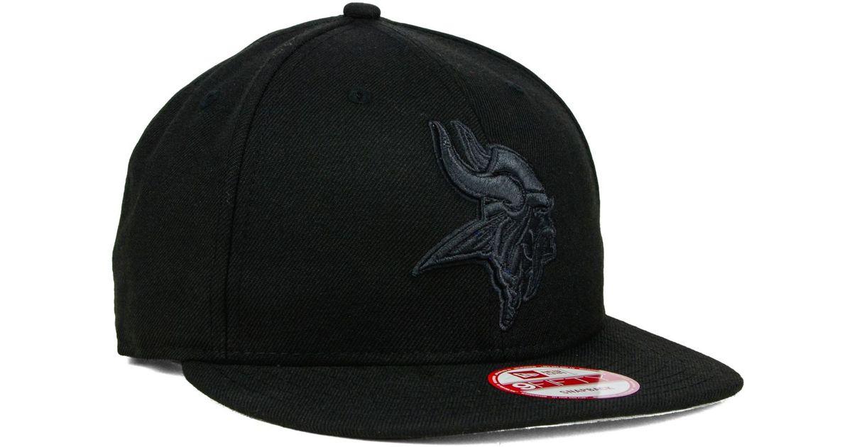 Lyst - KTZ Minnesota Vikings Black On Black 9Fifty Snapback Cap in Black  for Men 4ff29e6d6ac