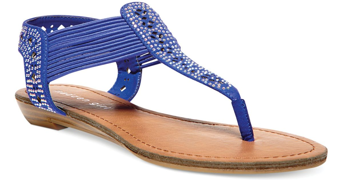 e1573cc86df Lyst - Madden Girl Taahnee Thong Sandals in Blue