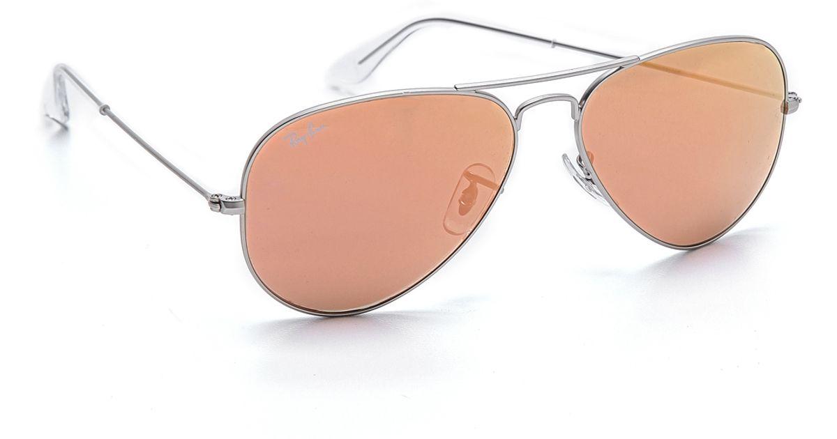 womens ray ban aviator polarized brown lens sunglasses italy