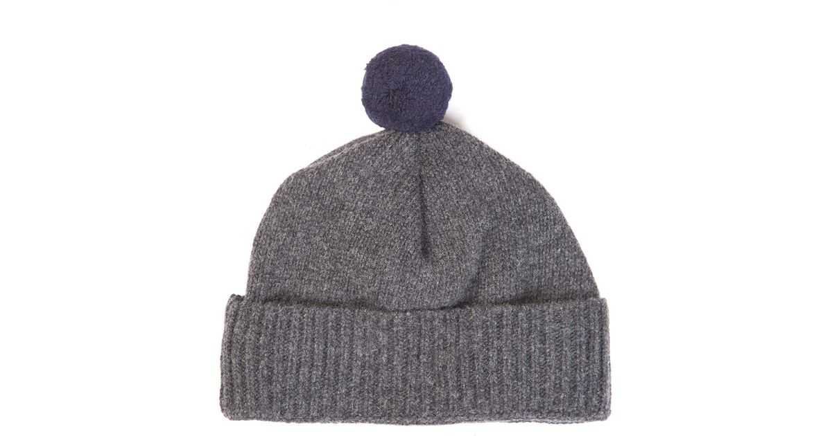 99f759f880621 Oliver Spencer Wool-knit Beanie Hat in Gray for Men - Lyst