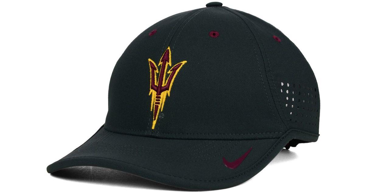 buy popular f8198 44a51 ... sweden lyst nike arizona state sun devils dri fit coaches cap in gray  for men e20aa