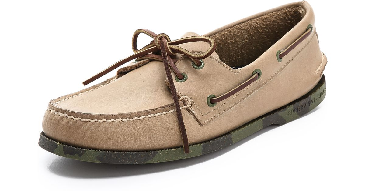 a9462aa4c Lyst - Sperry Top-Sider Camo Sole Boat Shoes in Green for Men