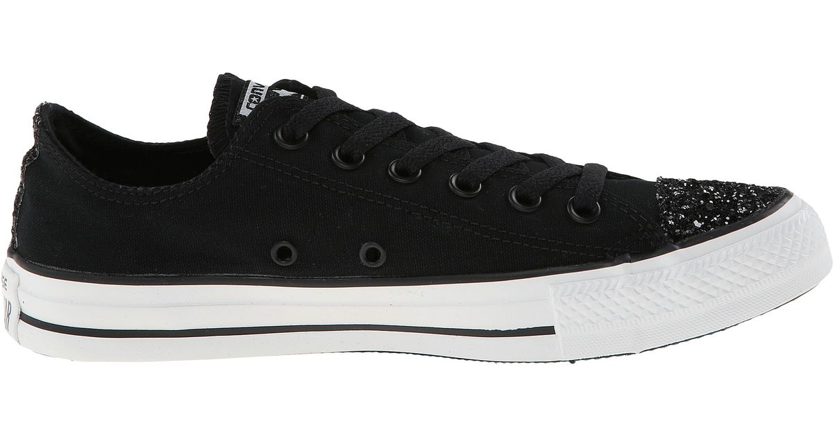 3b78033e23b1 Lyst - Converse Chuck Taylor® All Star® Toecap Sparkle Ox in Black