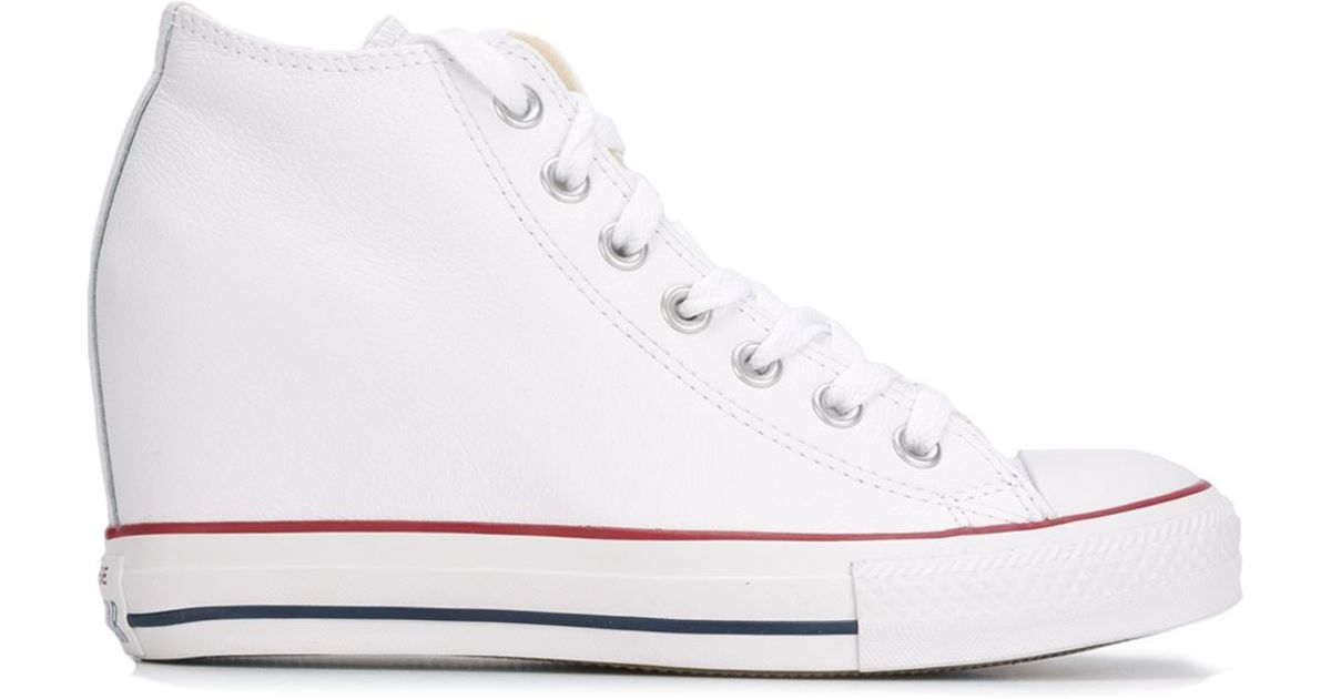 2d093653d84 Lyst - Converse  chuck Taylor All Star Lux Wedge  Sneakers in White