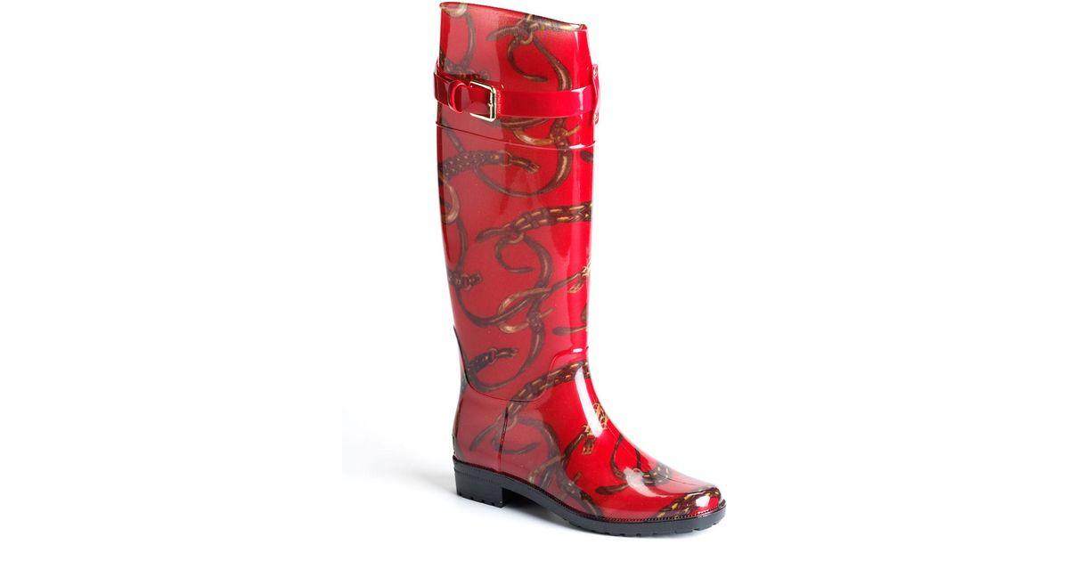 bc0518fbcbc4 Lauren By Ralph Lauren Rossalyn Rain Boots in Red - Lyst