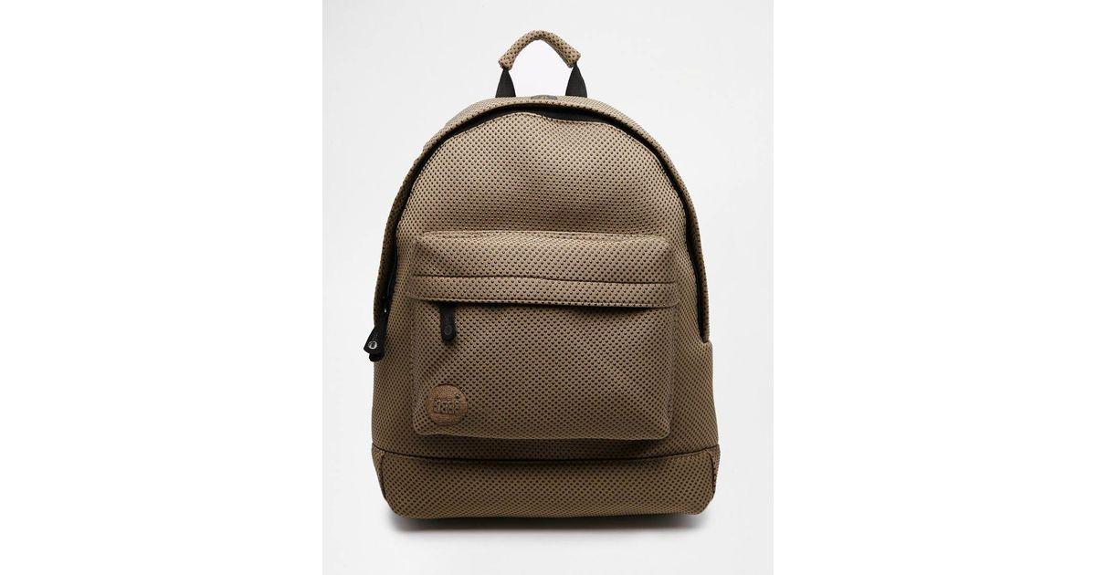 Mi-pac Neoprene Dot Backpack in Brown for Men (Khaki) | Lyst