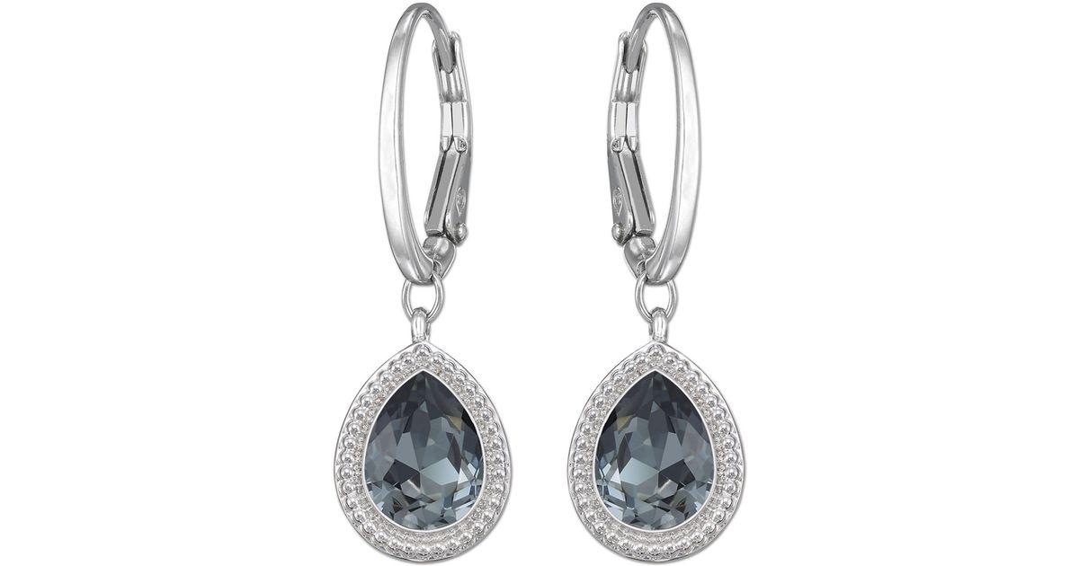 2891aa87e Lyst - Swarovski Aneesa Crystal Drop Earrings in Metallic