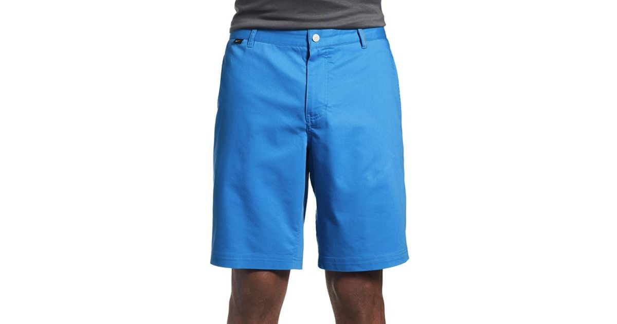 Nike modern fit dri fit golf shorts in blue for men lyst Modern fit golf shirt