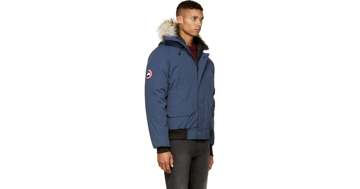 c0577eb71c5 Canada Goose Navy Chilliwack Bomber Jacket in Blue for Men - Lyst
