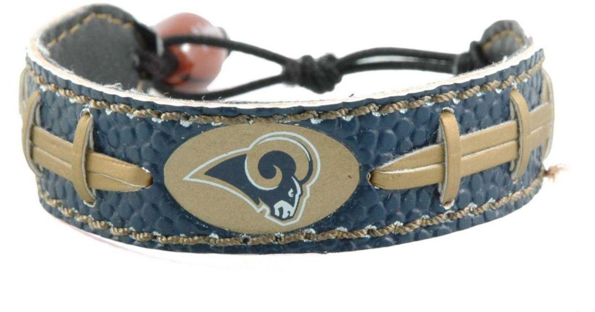 Game Wear Los Angeles Rams Football Bracelet In Blue Lyst