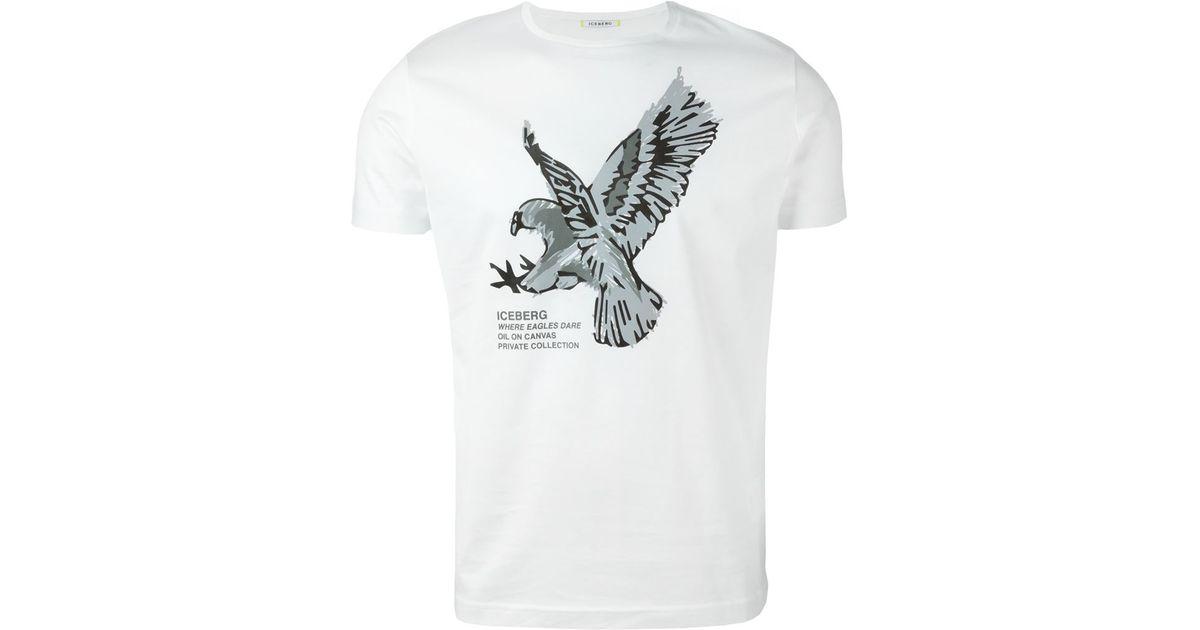 955c2bc9 Iceberg Eagle-Print Cotton T-Shirt in White for Men - Lyst